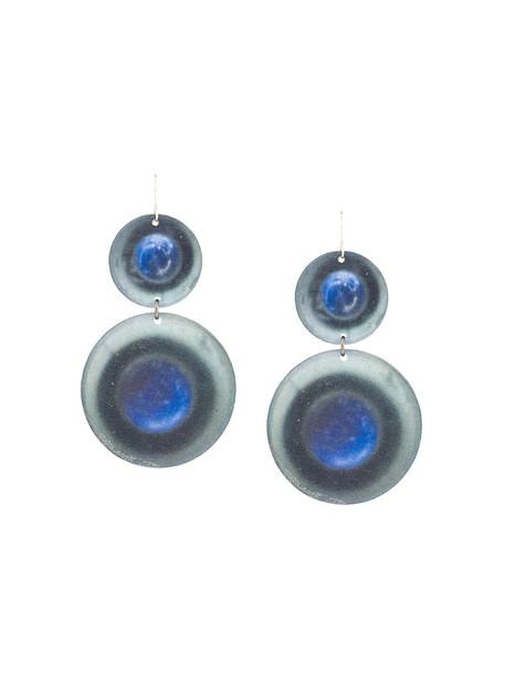 Maria Calderara metal women earrings grey jewels