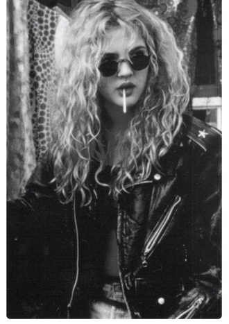 jacket leather dark rock grunge drew barrymore sunglasses