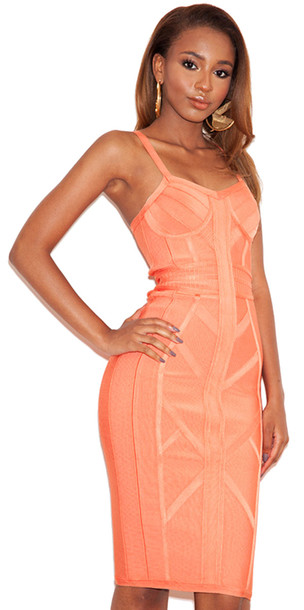 Coral Dresses with Straps