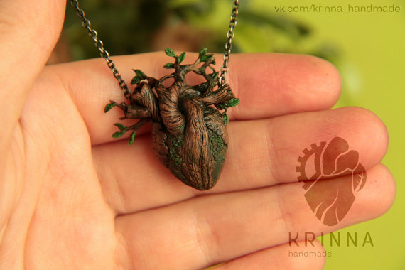 Growing heart pendant preorder by krinnahandmade on etsy