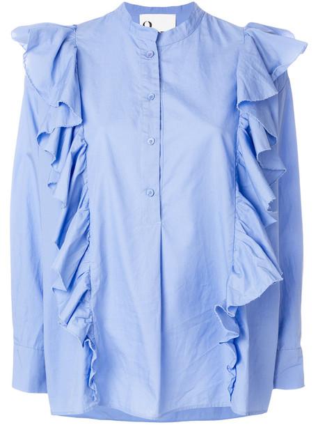 8pm - Demi shirt - women - Cotton - XS, Blue, Cotton