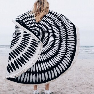 scarf round beach towel printed towel beach towel sneakers white sneakers converse white converse beach summer