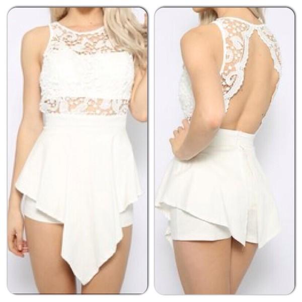 jumpsuit romper shorts lace dress