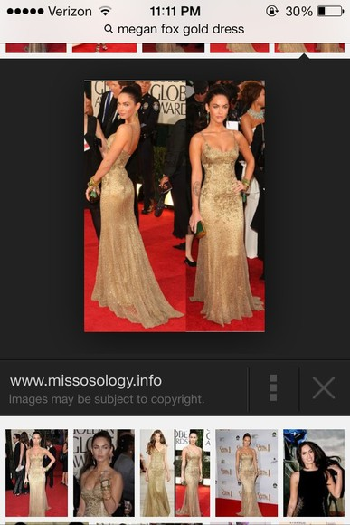 dress megan fox golden globes 2009 gold sequin dress