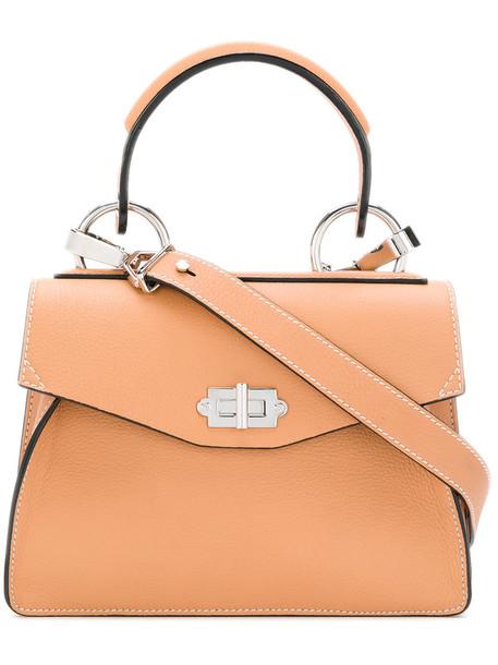 women leather nude bag