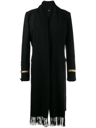 coat military coat women black wool