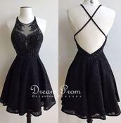 dress,short prom dress,black dress,black prom dress,glitter prom dress,backless,skater dress,sleeveless dress,mesh,gothic dress