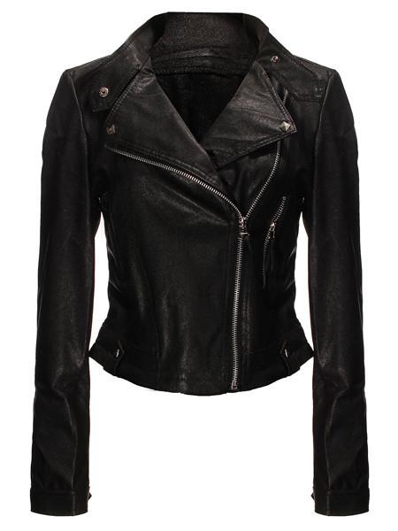Stud leather biker jacket