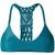 Mikoh - woven racerback bikini top - women - Nylon/Spandex/Elastane - L, Blue, Nylon/Spandex/Elastane