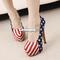 14cm sexy party pumps shoes american flag stiletto platform high heels blue es9p | ebay