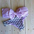 PURPLE BOW AND CHEVRON BIKINI  on The Hunt