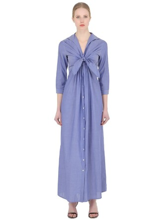 dress shirt dress cotton blue