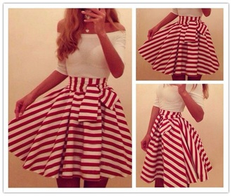 skirt red skirt white skirt cute skirts