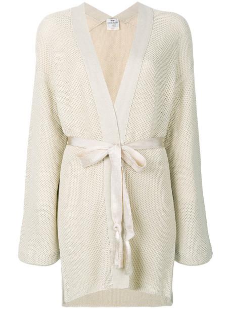 Forte Forte cardigan cardigan long women nude cotton sweater