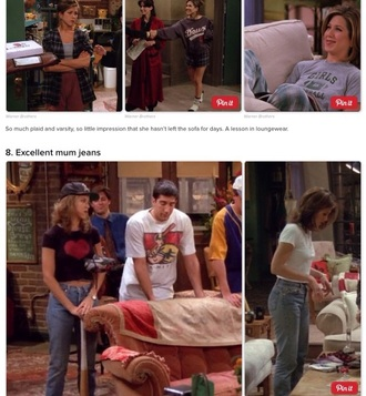 shirt tips for any blouse jeans 90s style 80s style rachel rachel friends jennifer aniston rachel  friends