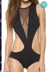 tank top,bodysuit,swimwear,black,mesh