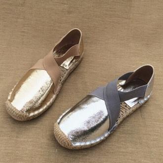 shoes metallic espadrilles metallic shoes