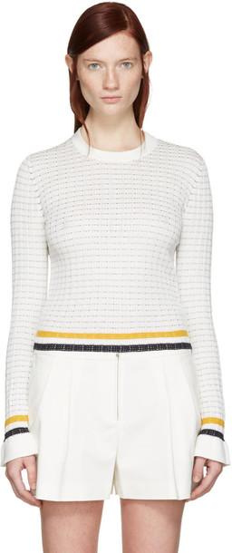 3.1 Phillip Lim pullover knit white sweater