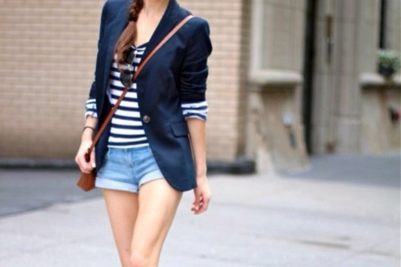 cardigan shirt stripped stripped black and white jacket navy navy blue