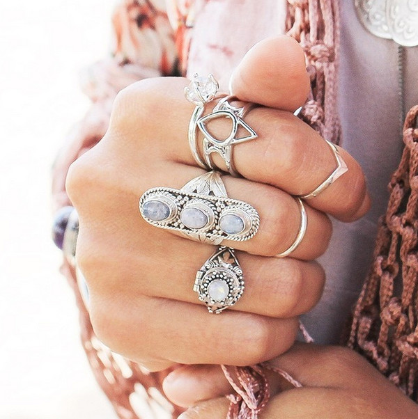 jewels boho hippie hippie chic bohemian jewelry jewelry ring silver stones crytals gemstone jewellery stores jewelry wishbone ring jewelry rings wishbone