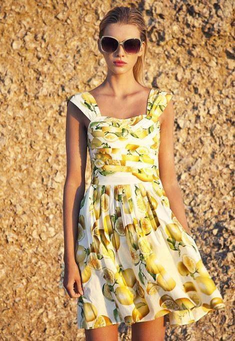 New Primark Lemon Print Sundress Summer dress UK 8-20  | eBay