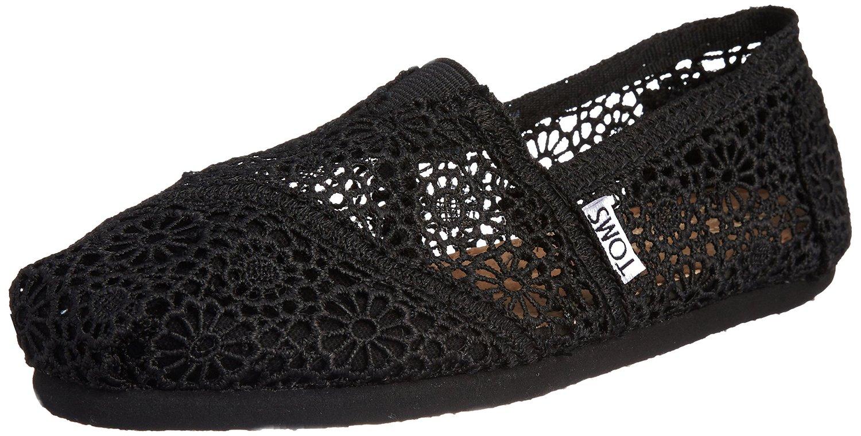 TOMS lace Schuhe in Schwarz