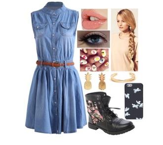 shoes dress boots flower boots phone cover denim dress