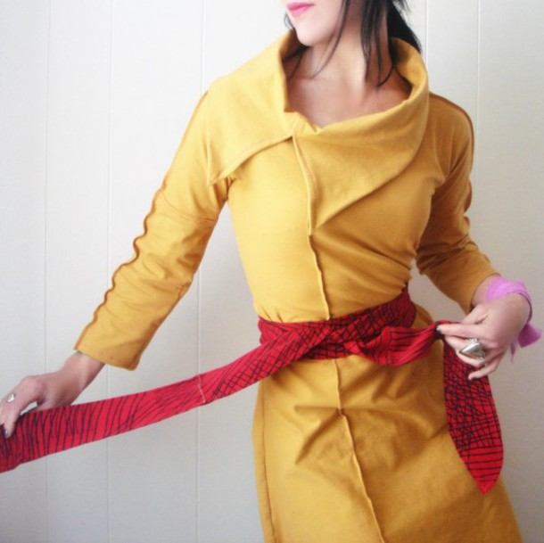 dress mustard dress yellow dress spring dress edgy edgy dress Edgy Dresses handmade handmade dress handmade dresses mustard yellow spring spring fashions