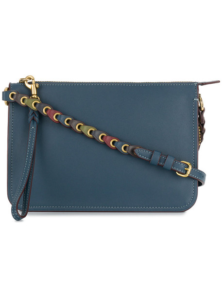 coach women bag crossbody bag leather blue