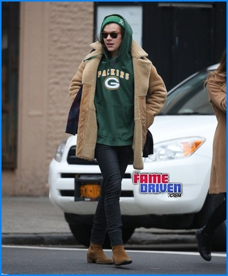 harry styles green bay packers mens hoodie