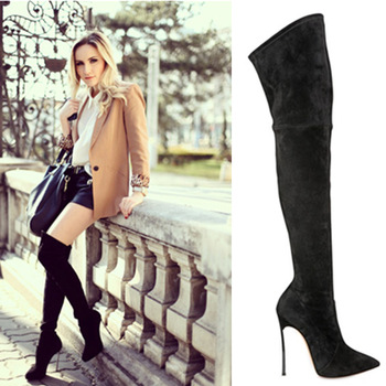 boot in sexy suede woman