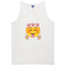 Floral happy face crop tank top - basic tees shop