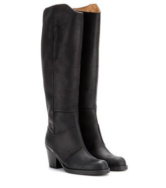 pistol boots leather boots leather black shoes