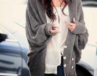 hipster sweater boho grunge jewels alternative blouse gray oversize