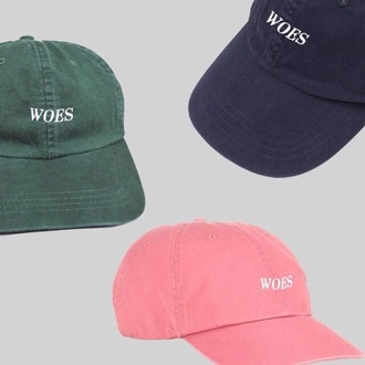 woes pink hat blue drake pink cap