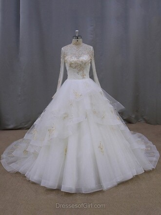 dress wedding dress wedding sexy gown ball gown dress lace tulle dress white bride fashion maxi style long puffy puffy dress pretty cute girly trendy dressofgirl