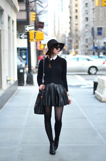 vogue haus blogger shirt sweater skirt shoes bag hat jewels sunglasses