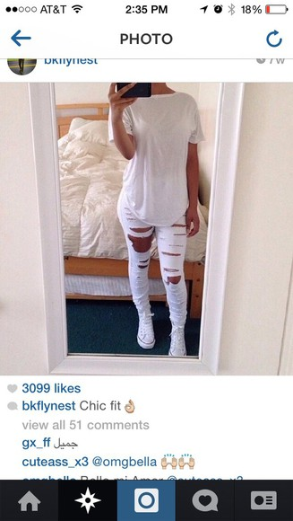 white jeans white pants ripped jeans