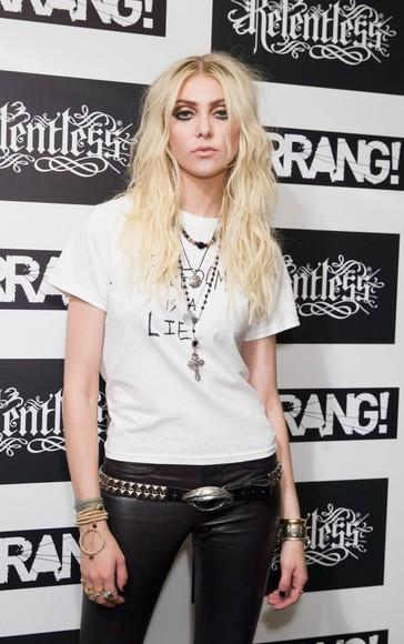 nirvana grunge t-shirt taylor momsen reckless goth freedim freedom lie relentless kerrang hell satan punisher gossip girl