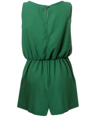 LOVE Forest Green Split Back Playsuit - In Love With Fashion
