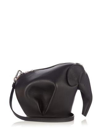 cross mini elephant bag leather black