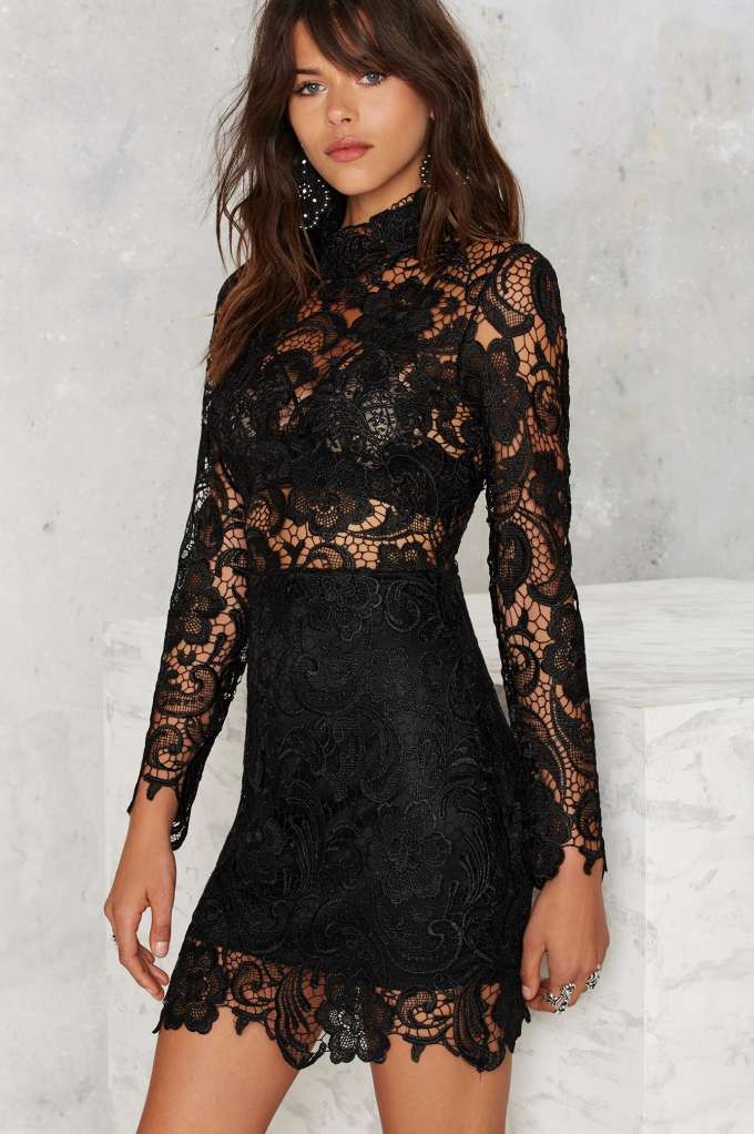 325855271c Right Lace Right Time Mock Neck Dress