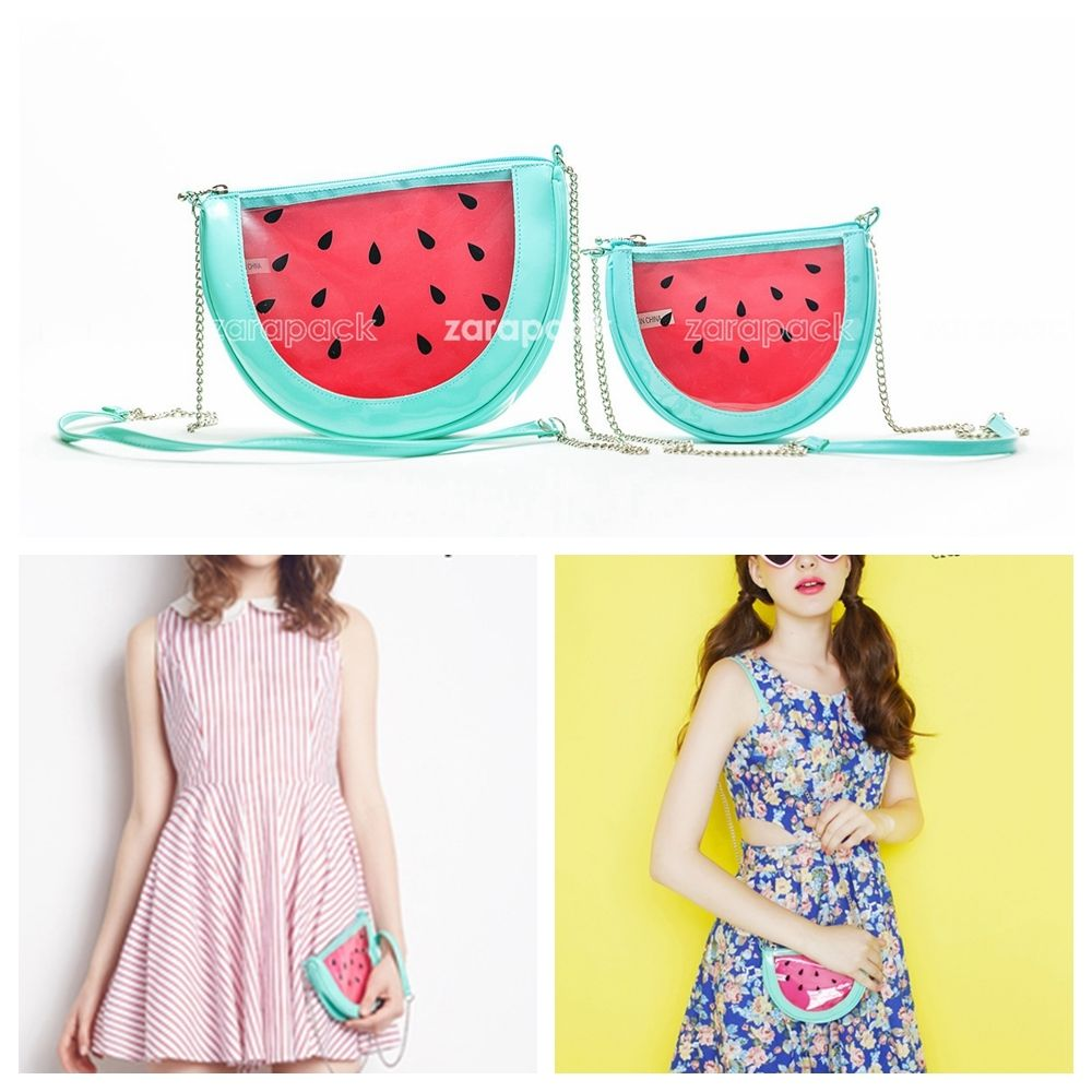 Designer Women Clear Purse Watermelon Transparent Crossbody Shoulder Handbag