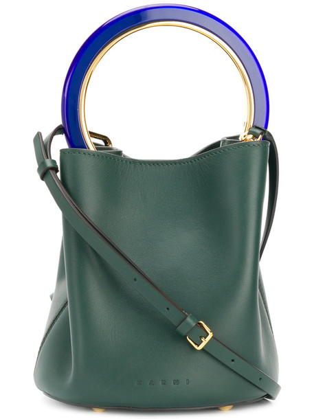 MARNI women bag tote bag leather green