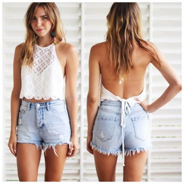 Shorts: high waisted, crop, sheer, festival style ...