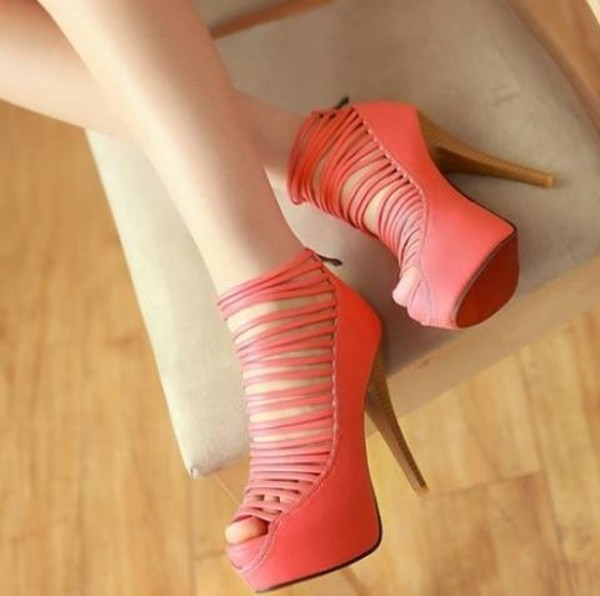 shoes pink heels with straps