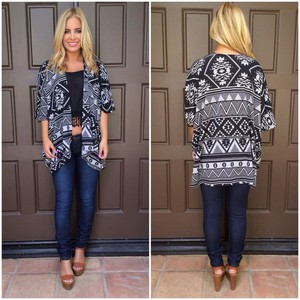 cardigan aztec sweater tribal print sweater