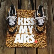 shoes,nike shoes,bag,nike,leopard print,animal print bag,air max,nike air,nike sneakers,nike leopard shoes,hipster,swag,dope,supreme
