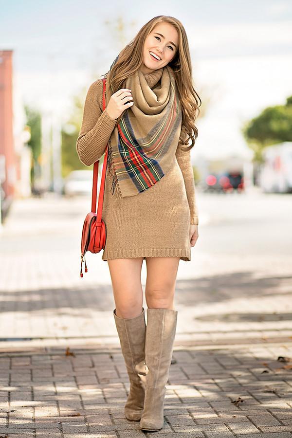 Cotton Emporium Turtleneck Sweater Dress | Nordstrom