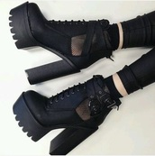 shoes,heels,black heels,boots,fashion,summer,girly,girl,goth,lolita,platform lace up boots,platform pumps,playform heels,platform heels,edgy,dope,dope wishlist,grunge,sexy,sexy shoes,lace up,lace up heels,girly wishlist,goth shoes,goth hipster,gothic lolita,winter boots